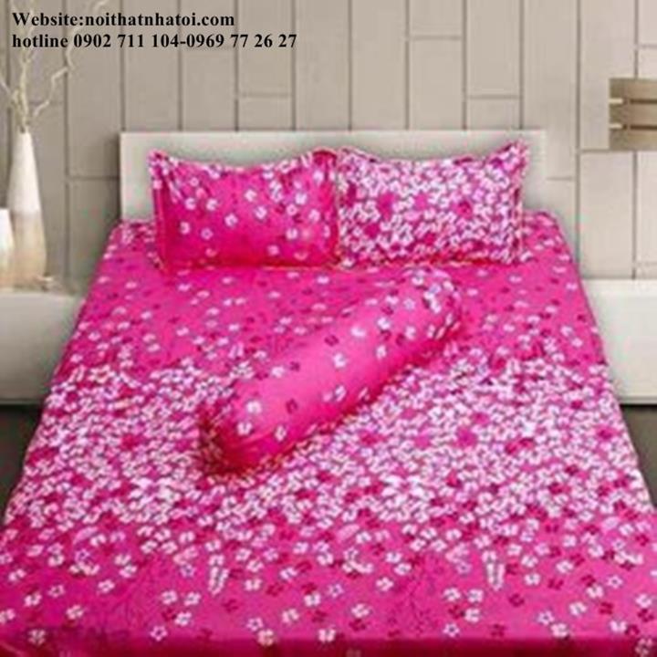 Bộ drap coton cao cấp vườn hoa 1