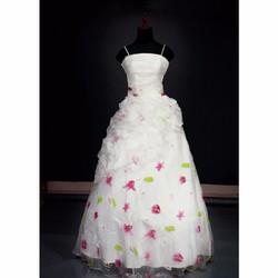 Váy cưới dài in hoa
