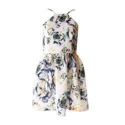Đầm yếm hoa hở lưng