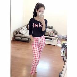BỘ PINK QUẦN CARO