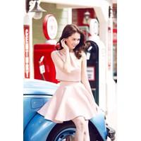 Set bộ áo croptop và chân váy xòe ngắn như Ngọc Trinh M00042