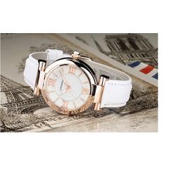 Đồng hồ nữ mặt số la mã dây da DHDHNTR221TQ
