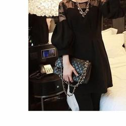 Đầm nữ dài tay thời trang, thiết kế sang trọng, hợp thời thượng.