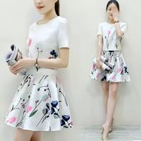 Set váy xòe + áo croptop tay ngắn - DV2548