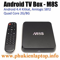 ANDROID TV BOX M8S LÕI TỨ RAM 2G WIFI