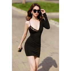 Đầm thun ôm body Ngọc Trinh thiết kế 1 tay mới lạ M0083