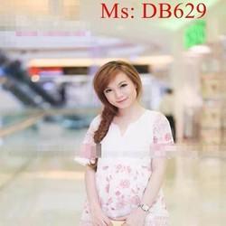 Đầm bầu hàn quốc công sở xinh đẹp và thời trang DB629