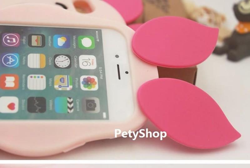 Ốp heo hồng iPhone 5 6 6 Plus Grand Prime J5 J7 J1 2016 A510 3