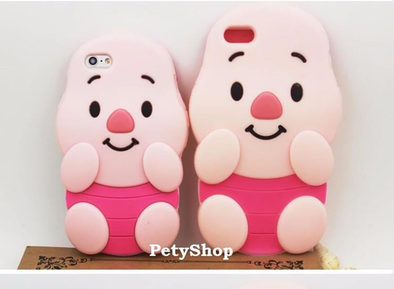 Ốp heo hồng iPhone 5 6 6 Plus Grand Prime J5 J7 J1 2016 A510 4