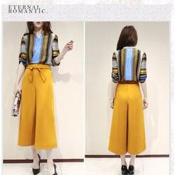 Set quần ống rộng và áo in họa tiết - DX553250