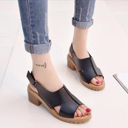 Giày Sandal nữ quai dán kiểu dáng thời trang - XS0286