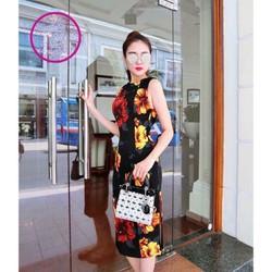 Đầm ôm body họa tiết hoa - DT2557
