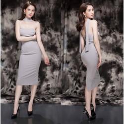 Đầm cúp ngực sexy thiết kế ôm body dài qua gối như Ngọc TrinH M292