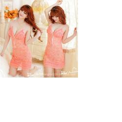 Đầm ngủ Sexy màu cam dễ thương M605a