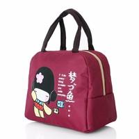 Túi giữ nhiệt xinh xắn cô gái Nhật loại dày cực cute - Đỏ