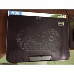 Đế tản nhiệt laptop 2 quạt Cooling pad N99 có cổng USB