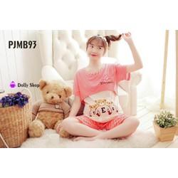 Bộ mặc nhà bà bầu hồng ngộ nghĩnh PJMB93