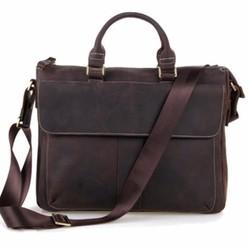 Túi xách nam da thật mẫu KNK03 màu Nâu Sẫm