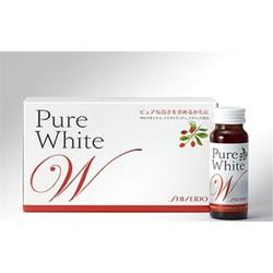 Nước uống làm trắng da shiseido pure white HÀNG XÁCH TAY Nhật Bản