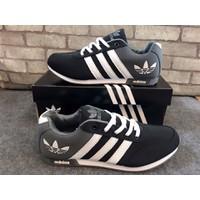Giày Adidas Lá - Xám Đen