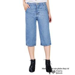 Quần Jeans lững nữ ống rộng cá tính XA611288