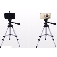 Chân máy ảnh Tripod tặng kèm giá kẹp cho máy ảnh và điện thoại