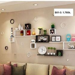 Kệ gỗ trang trí phòng khách giá rẻ HCM S01
