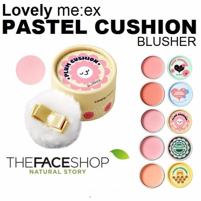 Phấn má hồng Lovely Meex Pastel Cushion Brusher The Face Shop 1