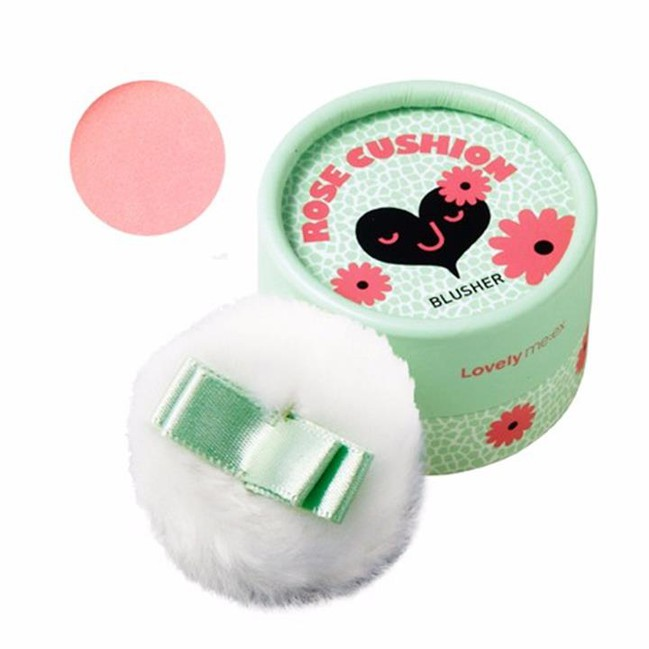 Phấn má hồng Lovely Meex Pastel Cushion Brusher The Face Shop 2