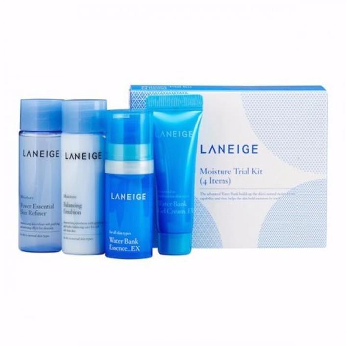 Set dưỡng ẩm Laneige Moisture Care Trial Kit 4 Items 3