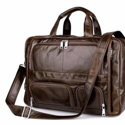 Túi xách nam da thật mẫu KNK08 màu nâu