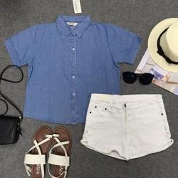Set croptop và short jeans
