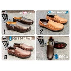 [Hàng Đã Về] Giày Lười Nam Chất Da Bò 01 Size 38-42