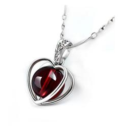 Dây chuyền bạc mặt trái tim S053