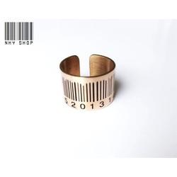 Nhẫn inox 316 + vàng 14k