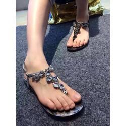 HÀNG XỊN  NHẬP CAO CẤP - Giày sandal hạt đá sang trọng