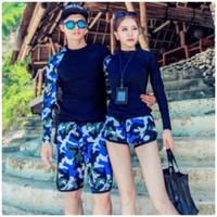 Set bikini cặp nam nữ rằn ri kèm quần rời màu trẻ trung,cá tính-DB054