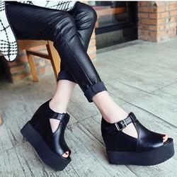 SD218D - Giày Sandal Chữ T Đế Bánh Mì - Doni86