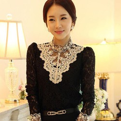Áo ren nữ thời trang, kiểu dáng sang trọng-A014