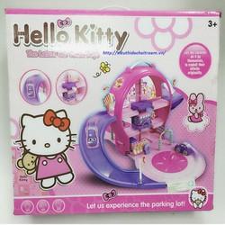 Bộ đồ chơi mô hình ray xe ô tô cực đẹp Hello Kitty