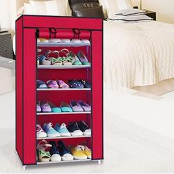 Tủ kệ vải để giày dép, sách báo 7 tầng 6 ngăn