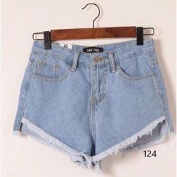 Quần short jean bụi