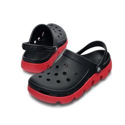 Dép sục crocs duet sport clog màu đen đế đỏ