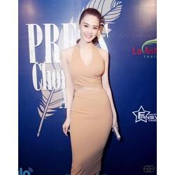 Đầm ôm body đẹp thiết kế chéo ngực sexy như Linh Chi M413