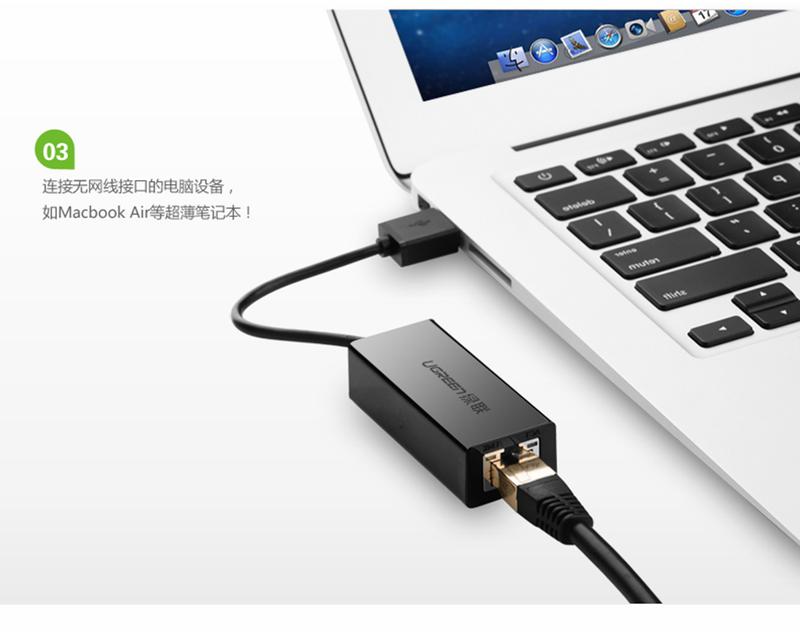 Cáp USB Type-C to Lan RJ45 Ethernet chính hãng Ugreen UG-30287 1
