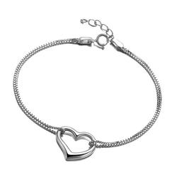 Lắc tay bạc hình trái tim S064