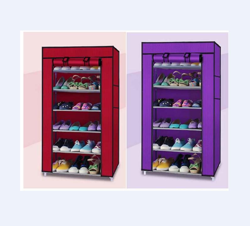 Tủ vải để giày 7 tầng 6 ngăn 2