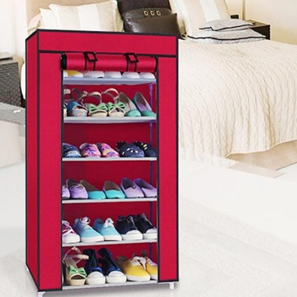 Tủ vải để giày 7 tầng 6 ngăn 3