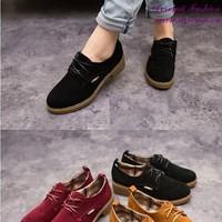 Giày oxford nữ da lộn mẫu mới sành điệu năng động GUBB164