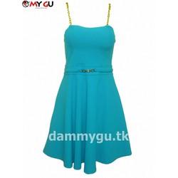 Đầm thời trang quyến rũ, nữ tính D37 - Màu xanh biển